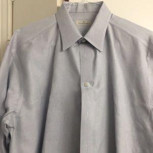 Zegna men's dress shirt with cuffs
